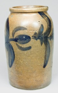 R. Butt stoneware jar, to be sold in our July 11, 2009 auction.