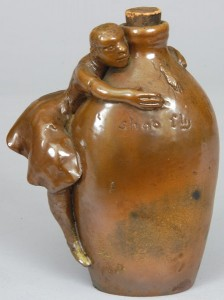 A world record for an Anna Pottery 'Shoo Fly' jug, this piece sold for $21,850 in our May 2007 auction.
