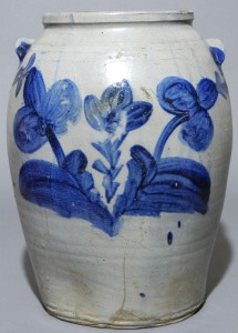 R. BUTT / W. City, D.C. stoneware jar sold for $2,970 in our October 2004 auction.