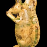 Moravian Redware Squirrel Bottle by Rudolph Christ, Salem, NC. To be sold in the Wm. Kelly Young Collection on 1/30/10.
