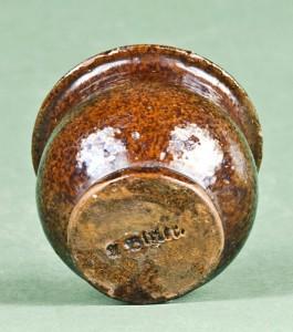 Bottom of the A. Bixler pot, showing the maker's mark.