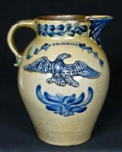 WM * PORTER, Pleasantville, PA stoneware pitcher