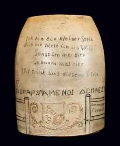 F.T. Persons' stoneware Yale mug.