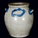 To be sold on March 5, 2010. Stoneware jar by James Miller, stamped J. MILLER / ALEX.