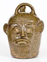Edgefield, SC Stoneware Face Jug (Harvest Jug), c1845-55