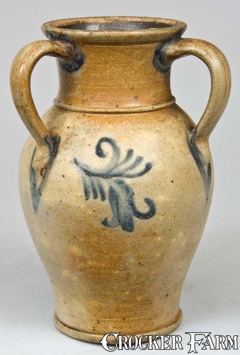 Three Handled Stoneware Vase Nj Origin Lot 15 March
