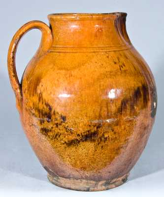 Glazed Redware Pitcher, New England origin.
