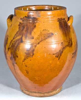 Glazed Redware Jar, probably New England origin.