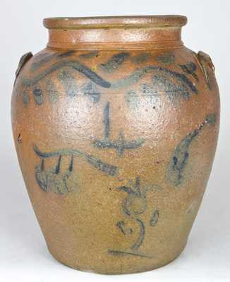 Cobalt-Decorated Stoneware Jar, Ohio origin.