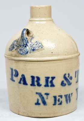 PARK & TILFORD / NEW YORK Stoneware Advertising Jug