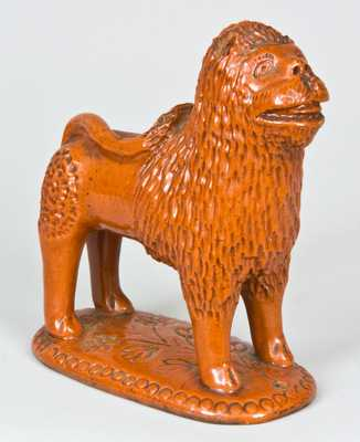Pennsylvania Redware Lion Figure