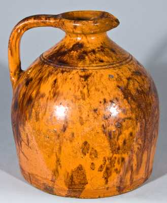 Glazed Redware Syrup Jug, Incised