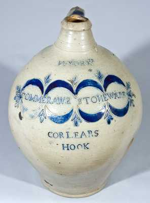 COMMERAWS STONEWARE Jug, Thomas Commeraw, New York