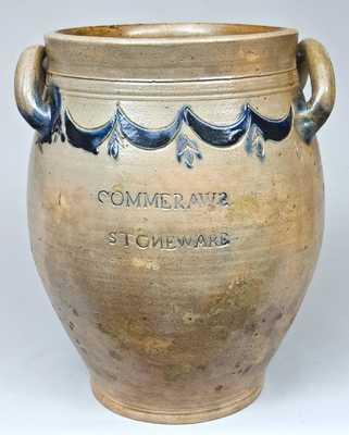 COMMERAWS STONEWARE, Thomas Commeraw, New York Stoneware Jar