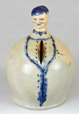 Extremely Rare Figural Stoneware Bank, New York State origin
