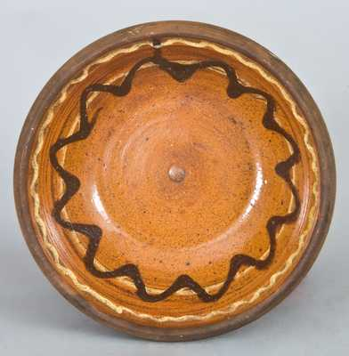 Slip-Decorated Redware Bowl, possibly Shenandoah Valley