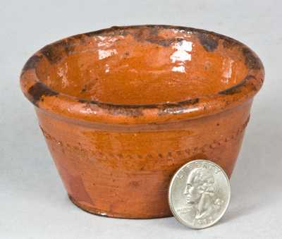 Probably PA Miniature Redware Bowl