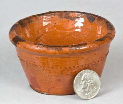 Probably PA Miniature Redware Bowl