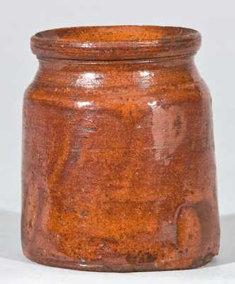 Miniature Glazed Redware Jar