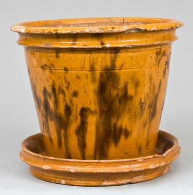 W. Smith / Wommelsdorf, Pennsylvania Redware Flowerpot