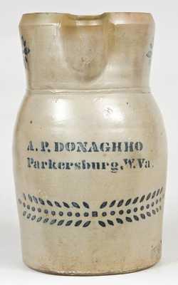 A.P. DONAGHHO / Parkersburg, W.Va Stoneware Pitcher