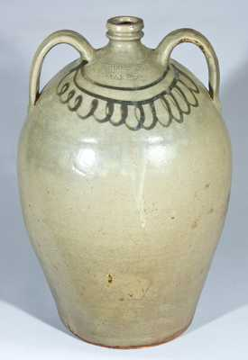 CHANDLER MAKER Double-Handled Edgefield Stoneware Jug