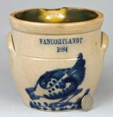 NY State VANCORTLANDT / 1884 Stoneware Batter Bowl