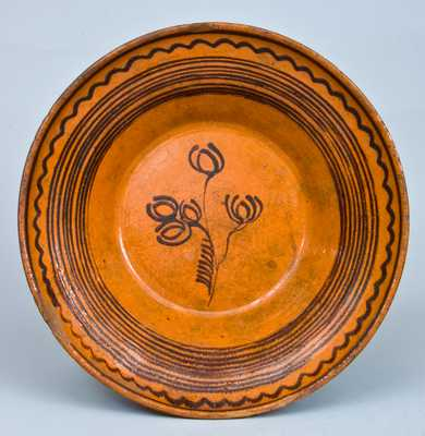 Early Hagerstown, MD Redware Bowl, attributed to Peter Bell