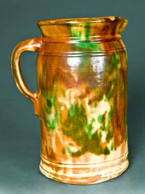 Shenandoah Valley Redware Tankard Pitcher
