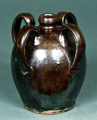 Four-Handled American Redware Jug