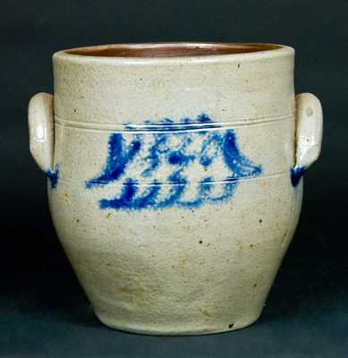 Northeastern US Stoneware Jar Dated 1840