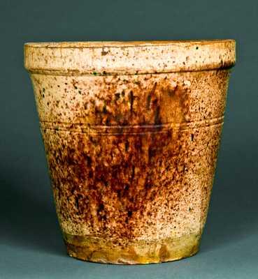 BACHER & KERN / WINCHESTER, VA Redware Flowerpot