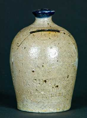 E. SUTER / Harrisonburg / Rockingham Co. / Va Stoneware Bank
