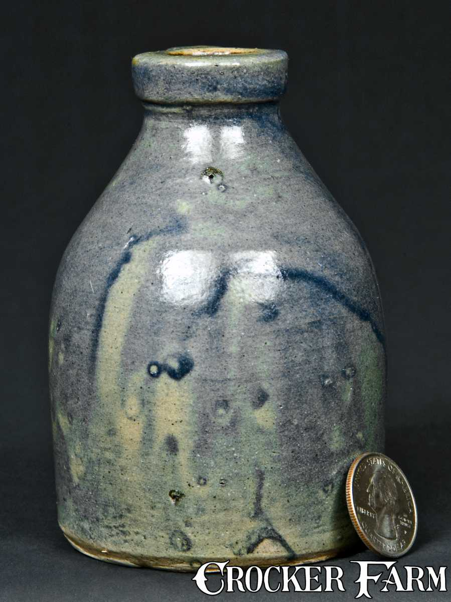 Miniature Stoneware Jug With All Over Cobalt Slip Lot
