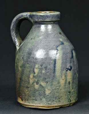 Miniature Stoneware Jug with All-Over Cobalt Slip