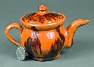 Miniature Redware Teapot