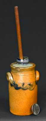 Miniature NY State Stoneware Churn