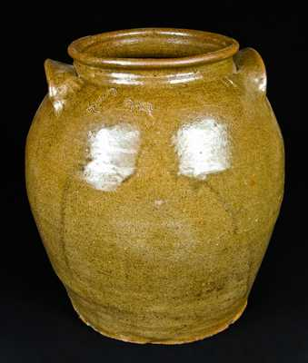 L m Stoneware Jar, attrib. Dave the Slave, Edgefield, SC