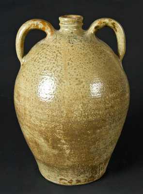 J. S. Nash, Marion Co., Texas, Double-Handled Stoneware Jug