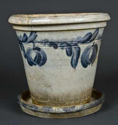 Attrib. Wells & Richards, Reading, PA Stoneware Flowerpot