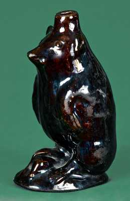 Moravian Redware Bear Bottle, attrib. Rudolph Christ, Salem, NC