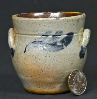 Miniature NY State Stoneware Cream Jar