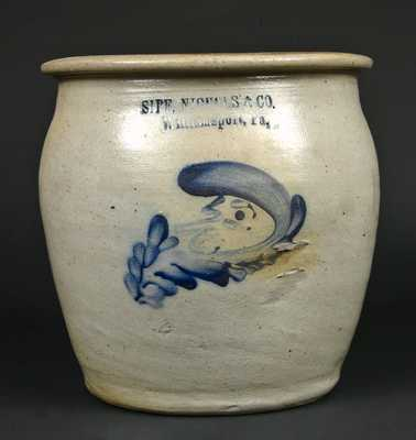 SIPE, NICHOLS & CO. / Williamsport, Pa. Stoneware Man-in-the-Moon Crock