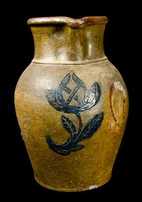 Incised Ohio Stoneware Pitcher