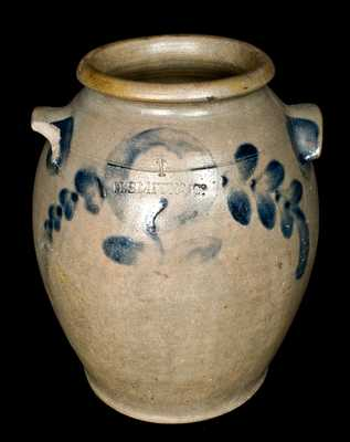 H. SMITH & CO, Alexandria, VA Stoneware Jar Incised