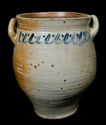 Early Open-Handled Stoneware Jar