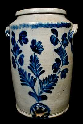 Remmey, Philadelphia Stoneware Cooler with Floral Decoration