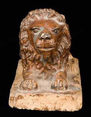 Stoneware Lion Figure