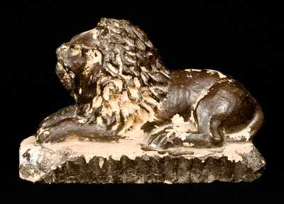 Stoneware Lion with CLIMAX, PA on Underside