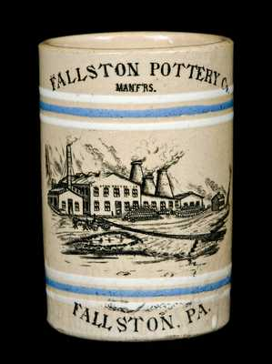 Rare Fallston Pottery Co. / Fallston, PA Stoneware Mug